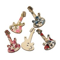 Wholesale pattern wood buttons resale online - Wood Sewing Button Scrapbooking Guitar Mixed Two Holes Flower Pattern cm quot x mm quot new