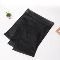 bolsas de sujetador negro al por mayor-Nuevo 1PC Ropa Lavadora Bolsa de lavandería con cremallera Nylon Mesh Net Bra Bolsa de lavado 5 tamaños Bolsas de lavado negras SY0050