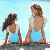 Wholesale mom girl matching clothes resale online - Mother Daughter Swimsuits Flower Mommy And Me Swimwear Bikini Family Matching Clothes Family Look Mom And Daughter Bathing Suit Y19051103
