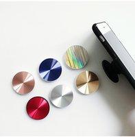 handy-griff für auto großhandel-Metall CD Korn Flexibler Handy Stent 3M Kleber Erweiterbarer Griffstand 360 Grad Finger Auto Magnetic Handyhalter für iPhone Samsung