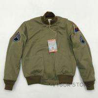 remendos do exército do vintage venda por atacado-Bob Dong Fury Tanker Patch Jacket Casaco de lã de inverno do exército dos EUA para homens