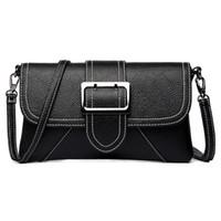 diseñador grandes bolsos negro al por mayor-Estilo de verano caliente Negro de las mujeres bolsa de hombro del cinturón grande solapa bolsos de diseño bolsos de embrague para las mujeres señoras bolsa de mensajero sac