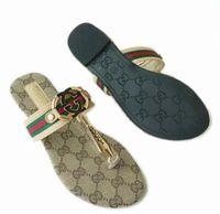 большие сандалии оптовых-2019 высокое качество женщин сандалии большой размер 35-42 дизайнерская обувь роскошные слайд летняя мода широкие плоские скользкие сандалии тапочки вьетнамки.