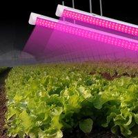 ingrosso t8 led ha coltivato tubi leggeri-LED coltiva la luce, Full Spectrum, ad alto rendimento, collegabile Design, lampadina T8 integrato + apparecchio, le luci per piante d'appartamento, 2ft-8ft v tubo forma