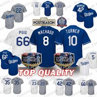 Wholesale kershaw baseball online - 22 Clayton Kershaw Los Angeles Dodgers Jersey Adrian Gonzalez Manny Machado Yasiel Puig Chris Taylor Justin Turner Jerseys