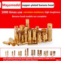 erkek dişi metal konektörler toptan satış-10 adet Biriktirmek Muz Fiş 2mm 3mm 3.5mm 4mm Bullet Kadın Erkek Konnektörler 5mm 5.5mm 6mm 8mm Altın Kaplama Bakır RC Parçaları ...