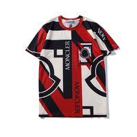 ingrosso oversize t-shirt bianche-Camicia di marca di moda Bianco Nero Lettere Stampa Estate Tees Uomo Donna Oversize Tee Shirt Hip Hop Street Top T-Shirt LXG1203