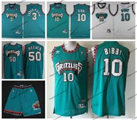 a6f1717ab Vintage Mens Vancouver Mike Bibby Bryant Reeves Grizzlies Basketball Jersey   10 Cheap Mike Bibby Shareef Abdur Rahim 3 Stitched Shirts S-XXL