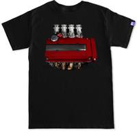 motores de válvulas al por mayor-B16 B18 Itb Jdm Integra Civic Tipo R Rojo Válvula Cubierta Motor Motor Soportes Camiseta