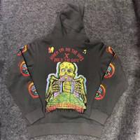 hoodies camisetas venda por atacado-XXXTentacion Hoodies Kanye West TEMPORADA 6 Homens 1x: 1 de Alta Qualidade HOLD THE GATE Camisolas T shirt Pullover