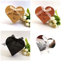 decorar caixa de doces venda por atacado-Caixa de Doces Do Casamento De Chocolate Eid Mubarak Ramadan Caixas de Amor Caixão Cadeia de Decoração Presente Pacote de Papel Reflexivo 0 45dd C1
