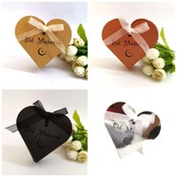 verzieren süßigkeiten-box großhandel-Hochzeit Candy Box Schokolade Eid Mubarak Ramadan Boxen Liebe Schatulle Bogen Dekorieren Präsentieren Paket Reflektierende Papier 0 45dd C1