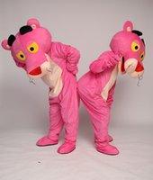 ingrosso rosa rosa caratteri rosa-Le mascotte della pantera della rosa rossa della mascotte del personaggio dei cartoni animati della mascotte della pantera di fantasia perfezionano il carnevale per le dimensioni dell'adulto delle attrezzature della scuola