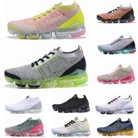 spor ayakkabıları siyah toptan satış-2019 TN Koşu Ayakkabı Erkek Yeni Fly 2.0 3.0 Örme Üçlü Siyah Beyaz Tasarımcı Ayakkabı Gerçek Mesh Sneakers 36-45 Be