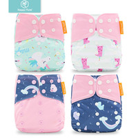 Wholesale price diapers resale online - Happyflute price for set Washable Cloth Diaper Cover Adjustable Nappy Reusable Cloth DiapersMX190910