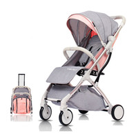Wholesale portable baby carriages for sale - Group buy Baby Stroller Light Folding Umbrella Car Baby Carriage Years Can Sit Can Lie Ultra light Portable On The Airplane Easy to Travel