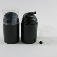 Wholesale cosmetic pressure pump bottle for sale - Group buy 50ml Black Plastic Airless Lotion Pump Bottle Empty Vacuum Pressure Elmusion Travel Cosmetic Containers Packaging