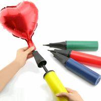 bombas manuais de balão venda por atacado-Insuflador de balão Mão Empurrar Bomba De Ar Festa Balão Mão Inflando Bomba para o Dia Das Bruxas Natal Dia Dos Namorados Decoração Do Aniversário HHA510