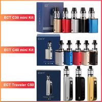 mini elektronische zerstäuber starter kit groihandel-ECT C30 Mini-Starter-Kit e Zigarettenschachtel mod vape mod erfüllt Zerstäuber 2,0 ml Verdampfer 1200mAh elektronische Zigarette