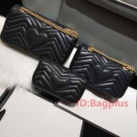 kadınlar için moda sırt çantası deri toptan satış-3 Boyutu Yüksek kalite Kadınlar Marka Moda Marmont Lüks Tasarımcı Çanta Hakiki Deri Crossbody Çanta Çantalar Sırt Çantası Omuz Çantası