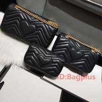 Wholesale small size purses for sale - Group buy 3 Size Real leather High quality Women Lady Fashion Marmont Bags Genuine Leather Crossbody Handbags Purses Backpack tote Shoulder Bag
