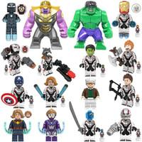 ingrosso gli uomini del ferro del capitano del hulk giocano super-Avengers 4 Endgame Building Blocks Giocattoli del fumetto Super hero Hulk Iron Man Capitan America Mattoni Per I Bambini Regali di Compleanno Festa C6503