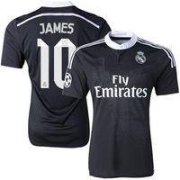 реал третьего джерси роналду оптовых-Роналду Чичарито Бензема Бэйл Isco James 2014 2015 Реал Мадрид ретро футбол Джерси 14 15 винтаж третий черный футболка Китайский дракон