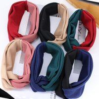 Wholesale luxury xmas gifts online - 6 Splice Colors Winter Weave Hair Band Girls Headband Designer Headband Luxury Headbands Gifts Head Scarf Xmas Gifts for Women