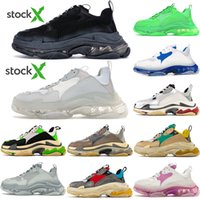 Wholesale lime green shoes for men for sale - Group buy DHL Free Triple s fashion Paris FW Triple s Sneakers for men women black red white green Casual Dad Shoes tennis increasing sneakers