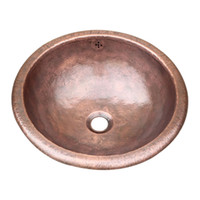 pia do coletor de cobre venda por atacado-mão de cobre prue bacia mão martelado banheiro pia bacia de cobre puro hotel decoração da bacia