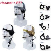 airsoft taktische headsets großhandel-CS Tacitcal Gear Paintball Schießen Kopfhörer Tactical Earphone Airsoft Schießen Combat Gear Tactical Headset mit PTT NO15-013A