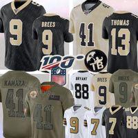 nueva jersey de futbol al por mayor-9 Drew Brees de New Orleans Jersey Saintss 41 Alvin Kamara 13 Michael Thomas Jersey 23 Marshon Lattimore 7 Taysom Hill Bryant fútbol jerseys