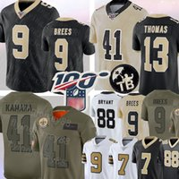 jersey bryant venda por atacado-9 Drew Brees Nova Orleans Jersey saintss 41 Alvin Kamara 13 Michael Thomas Jersey 23 Marshon Lattimore 7 Taysom Hill Bryant Football Jerseys
