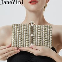 Wholesale imitation pearl bridal hand bags resale online - JaneVini Fashion Pearl Handbag Bling Rhinestones Wedding Bag for Women Chain Crossbody Evening Bridal Hand Bags Cocktail Prom Purse