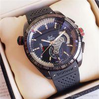 relógio taquímetro automático venda por atacado-Famosos Relógios Mecânicos Automáticos Certificados Cronômetro TAG Grand Carrera CAUBRE 36 taquímetro Relógios de luxo Presente 43mm relógio suíço