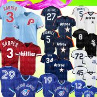 12 mavi formalı toptan satış-Retro Phillies 3 Bryce Blue Jays 29 Joe Carter 12 Alomar Jersey 27 Jose Altuve Jeff Bagwell 8 Bo Jackson Jose Bautista Formalar