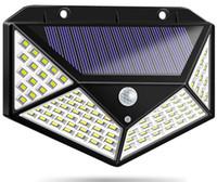 güneş ışığı paketleme toptan satış-1200LM Açık Güncelleme 100 Led PIR Hareket Sensörü Işık Bahçe Plaza Için Su Geçirmez Güneş Işık Güvenlik Işık