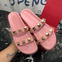 ingrosso disegno stella rosa-2019 pantofole da donna di design di lusso di moda pantofole pantofole infradito firmate star vintage con scatola da 35-40 -268