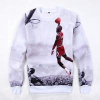 ingrosso felpe a pallacanestro-2019 Brand New Fashion Basketball Men Sportswear Stampa Uomo Felpe Pullover Hip Hop Mens tuta Felpe Abbigliamento