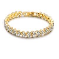 ingrosso braccialetto roma-Roma cristallo zircone cuore perline braccialetto tennis braccialetto braccialetto 3 colori catena sposa braccialetto per le donne / uomini accessori regalo gioielli da festa