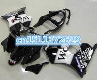 carenados de zx blanco al por mayor-Negro, blanco, carenados de la motocicleta para ZX6R 2000 2001 2002 Ninja ZX6R 636 00 01 02 carenado kit de carrocería ZX 636 2000-2002-Dor