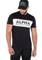 kakmalı gömlek toptan satış-Alfa Endüstrileri Herren Erkekler T-Shirt Kakma T Oberteil Gömlek MA1 S bis 3XL NEU renk forması Baskı t gömlek