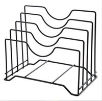 Wholesale book shelves resale online - Creative Stainless Steel Kitchen Shelf Rack Cutting Board Book Organizer Storage Pot Silver Drainer Stand Rack Shelves