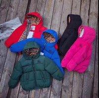 ingrosso classico q-Hi-Q (alta qualità) marchio B famiglia classico controllo piumino per bambini stile corto con cappuccio colore caramello ispessito caldo verso il basso cappotto per 2T-10T