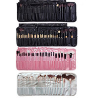 Wholesale best professional cosmetic brush set resale online - 32pcs Set Professional Makeup Brushes Portable Full Cosmetic Make up Brushes Tool Foundation Eyeshadow Lip brush with PU Bag Best quality