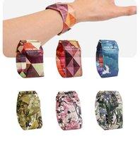 печатные браслеты оптовых-Водонепроницаемый бумажные часы 16 стилей смарт-часы цветок фламинго печати дети студент запястье цифровые часы OOA6772