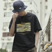 pintura chinesa antiga venda por atacado-2019 Hip Hop Camiseta Streetwear Dinastia Song Chinesa Antiga Pintura T-Shirt Dos Homens de Algodão de Manga Curta Tshirts Verão Tops Tees
