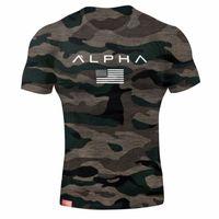camisas talla xl al por mayor-Camiseta militar para hombre del ejército militar para hombre camisetas de diseñador Hombres Estrella camiseta de algodón suelta O-cuello Alpha America Tamaño Camisetas de manga corta