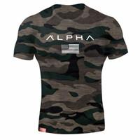 camiseta de manga curta do exército venda por atacado-Mens Militar Do Exército T Shirt dos homens designer de camisas de T Dos Homens Estrela de Algodão Solto T-shirt O-pescoço Alpha America Tamanho de Manga Curta Tshirts