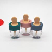 labios naranja al por mayor-5 ml de colores vacíos diy botellas de brillo de labios rosa verde naranja dulce helado forma lindo lápiz labial lápiz labial para niñas